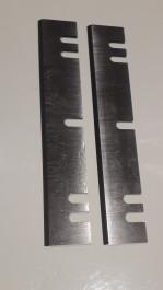 Jeu de 2 fers 200 mm a encoches pour Kity 635