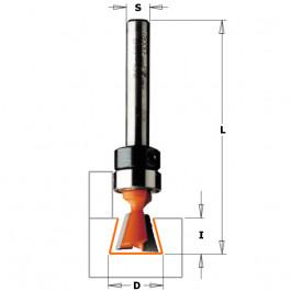 CMT : Fraise queue d aronde 12.7 x 12,7 mm guidage - queue 6 mm