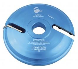 Porte outils plate bande 160 mm - dessous