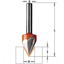 CMT : Fraise ecriture a pointe laser 60° - queue 6 mm