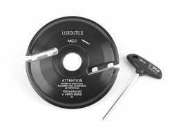 Porte outils plate bande 150 mm Dessous