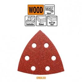 CMT : 10 x abrasif triangulaire 93 V Grain 240