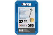 "Kreg : Vis galvanisée  32 mm / 1,25 "", gros filet, Maxi-Loc, 500 pièces"