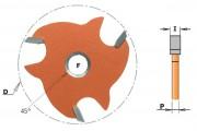 Disque fraisé rainure latérale 4mm CMT série 823