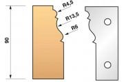 301 : jeu de fers moulure plinthe ht 90 mm