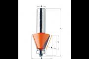 CMT : Fraise carbure chanfrein avec guidage 22,5°- queue 12 mm