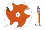 Disque rainure latérale 3mm CMT série 822