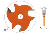 CMT : Disque rainure latérale 3,2 mm série 822
