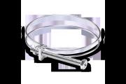 Collier double fil serrage pour flex D= 80 mm