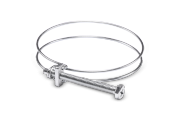 Collier double fil serrage pour flex D= 40 mm