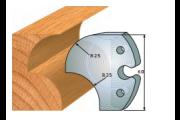 jeu de fers 60 mm congé 25 mm ref 6011