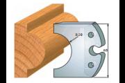 jeu de fers 60 mm gueule de loup 40 mm ref 6016