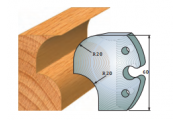 jeu de fers 60 mm congé 20 mm ref 6019