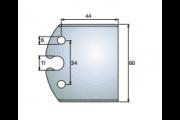 jeu de fers 60 mm brut à usiner ref 6000