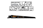 CMT lame scie sabre 150mm coupe panneaux bois par 5