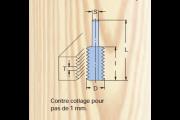 KWO : Fraise carbure enture 1 mm - queue 6 mm
