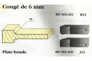Le Ravageur : plate bande congé 6mm DUS 565461