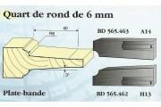 Le Ravageur : plate bande 1/4 de rond DUS 565463