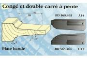 Le Ravageur : plate bande congé double carré DUS 565465
