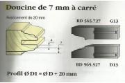 Le Ravageur : profil doucine 7mm carré DOS 565527