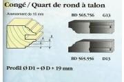 Le Ravageur : profil congé 1/4 de rond 15mm DOS 565556