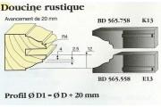 Le Ravageur : profil doucine rustique 20mm DOS 565558