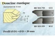 Le Ravageur : profil doucine rustique 15mm DOS 565559