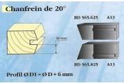 Le Ravageur : profil c/profil chanfrein 20° DUS 565625