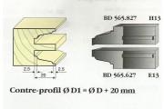 Le Ravageur : contre profil doucine 7mm carré DOS 565627