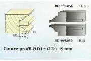 Le Ravageur : contre profil congé 1/4 de rond 15mm DUS 565856