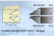 Le Ravageur : contre profil congé 1/4 de rond 20mm DUS 565857
