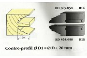 Le Ravageur : contre profil doucine rustique 20mm DUS 565858