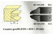 Le Ravageur : contre profil doucine rustique 20mm DOS 565658