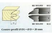 Le Ravageur : contre profil doucine rustique 15mm DUS 565859
