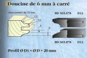 Le Ravageur : profil c/profil doucine 6mm à carré DUS 565678