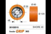 Galet - rouleau rechange Feeder Grip 120 x 60 mm - entraineur