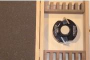 Coffret bois vide 12 paires de fers 40 mm