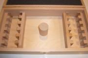 Coffret bois vide 12 paires de fers 50 mm