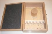 Coffret bois vide 6 paires de fers 50 mm