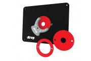 Kreg : Plaque d'insertion de table de toupie de précision / pré-percée pour Triton - CMT
