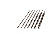 Jeu de 7 mèches à hélice unique 460 mm en coffret bois