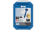 "Kreg : Vis  Blue-Kote 64 mm / 2,5"", gros filet, Maxi-Loc, 50 pièces"