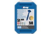 "Kreg : Vis  Blue-Kote 51 mm / 2"", gros filet, Maxi-Loc, 50 pièces"