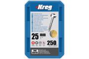 Kreg : Vis galvanisée 25 mm  filetage gros tête cylindrique, 100 unités