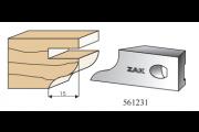 561231 : Jeu de 2 fers Multizak doucine 15 mm